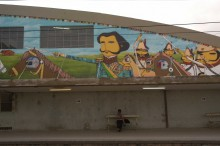 TRAIN STATION IPIRANGA, COLLABORATION OSGEMEOS, ISE AND NINA PANDOLFO – GRAFFITI PROJECT