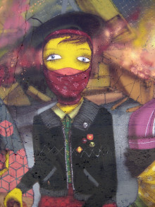 MURAL COLLABORATION OSGEMEOS, LOOMIT, NUNCA AND NINA PANDOLFO