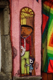 THE GRAFFITI PROJECT, KELBURN CASTLE, COLLABORATION  OSGEMEOS, NUNCA AND NINA PANDOLFO