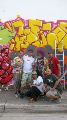 WYNWOOD WALLS PROJECT, COLLABORATION OSGEMEOS, NINA PANDOLFO, FINOK AND TOES