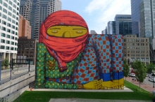 INSTITUTE OF CONTEMPORARY ART, BOSTON AND GREENWAY MURAL