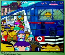 TRAIN STATION LAPA, COLLABORATION OSGEMEOS AND NINA PANDOLFO – GRAFFITI PROJECT