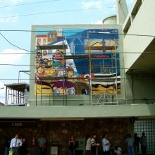 ESTAÇÃO LAPA CPTM, COLABORAÇÃO OSGEMEOS E NINA PANDOLFO – PROJETO GRAFITE
