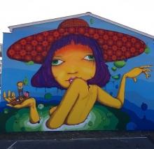 Mural em Naestved, Dinamarca